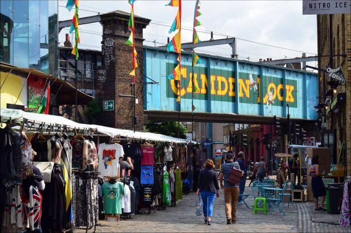 Camden Town - Barrio famoso por sus mercados vintage y su vida cultural