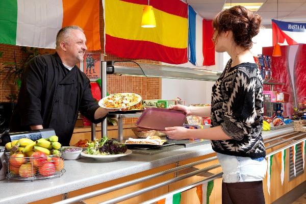 La cafetería de la Escuela - El café Escuela IH Dublin, Irlanda