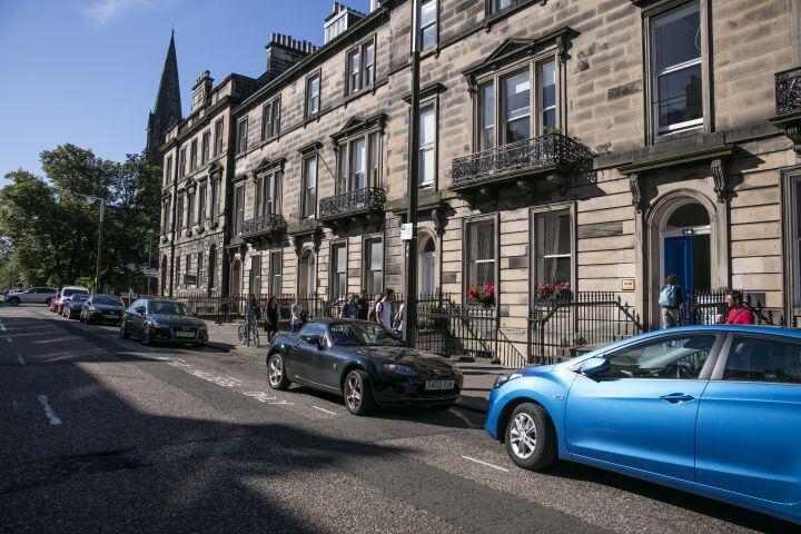 Escuela de inglés en Edimburgo. - La escuela se ubica en una casa tradicional georgiana en el corazón de la Ciudad Nueva de Edimburgo.