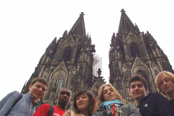Estudiantes de diferentes nacionalidades - Curso de alemán en Colonia, Alemania