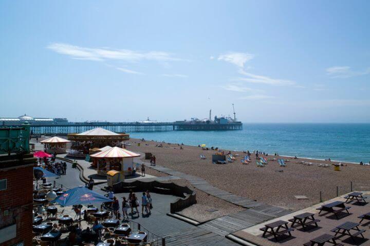 La playa - Brighton tiene uno de los mejores climas ingleses
