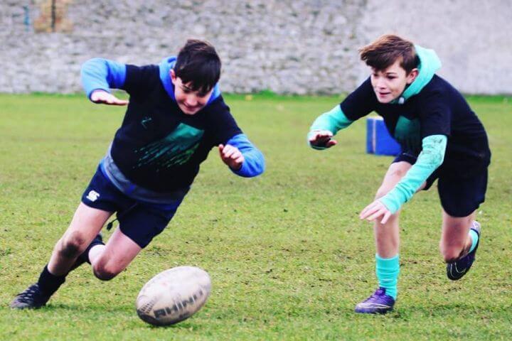 Entrenamiento de Rugby en horario de tarde - Rugby Irlanda