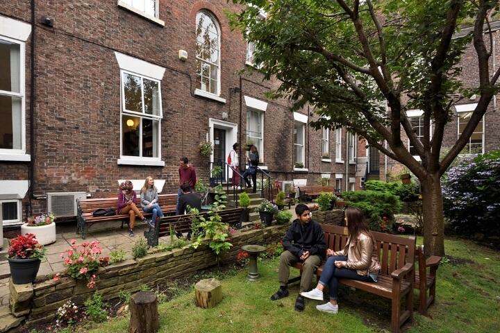 Jardín de la escuela en Liverpool -