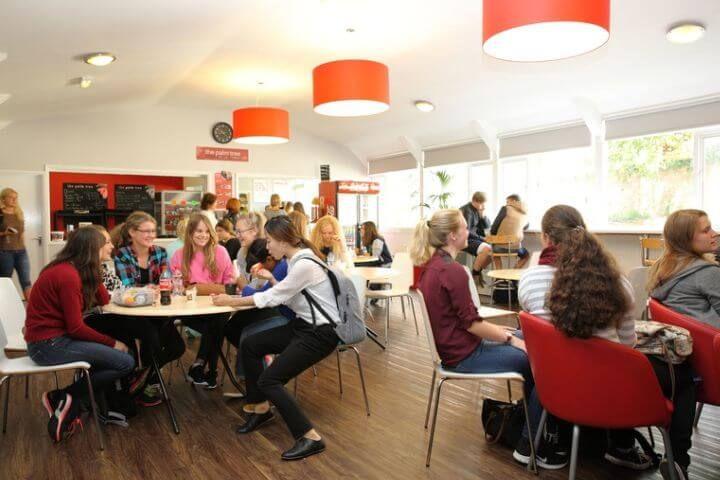 Cafetería de la escuela - Podrás comprar bebidas y comidas calientes