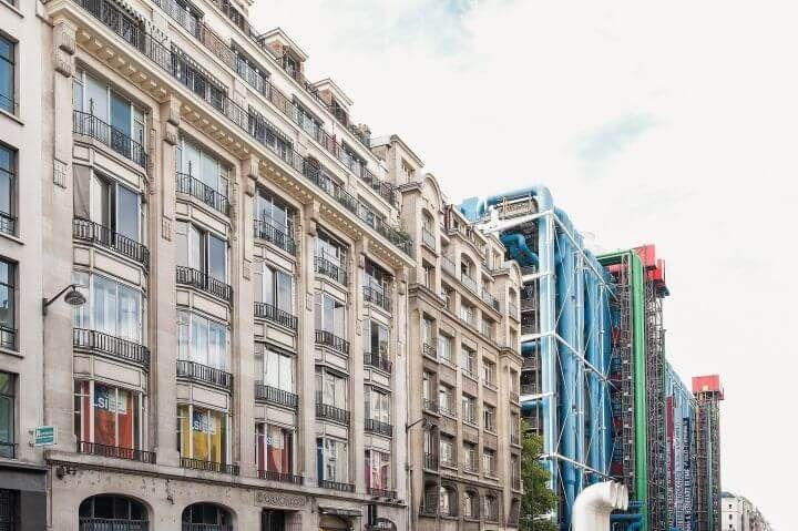 Escuela de francés en el centro de París - Nestra escuela de francés en París se encuentra a un minuto del Centro Pompidou y a cinco del Hôtel de Ville y de la Catedral de Notre Dame