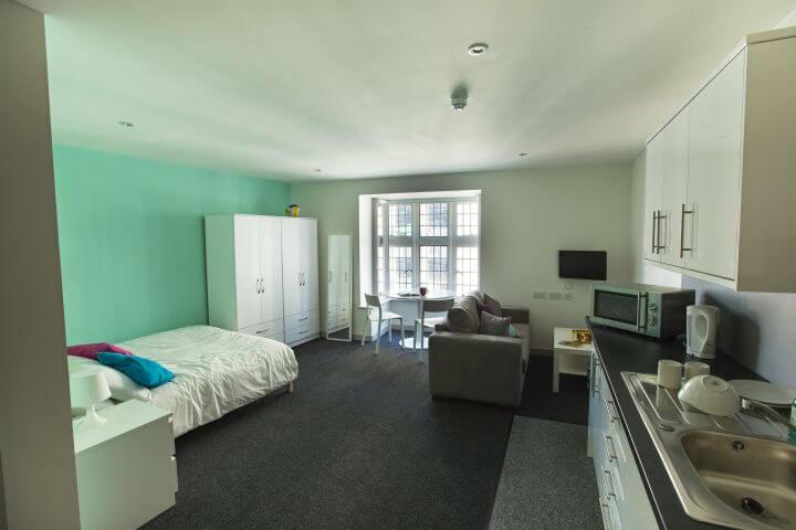 Una habitación en la residencia -  Kings School of English Bournemouth