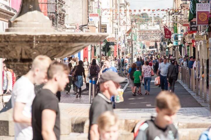 Cork es una ciudad atractiva para los estudiantes de Inglés. -