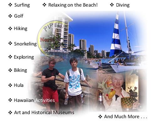 Variedad de actividades - Variedad de actividades en Hawai