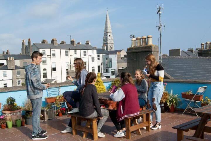 Terraza con vistas - Magnífica terraza que mira a la Bahía de Dublín
