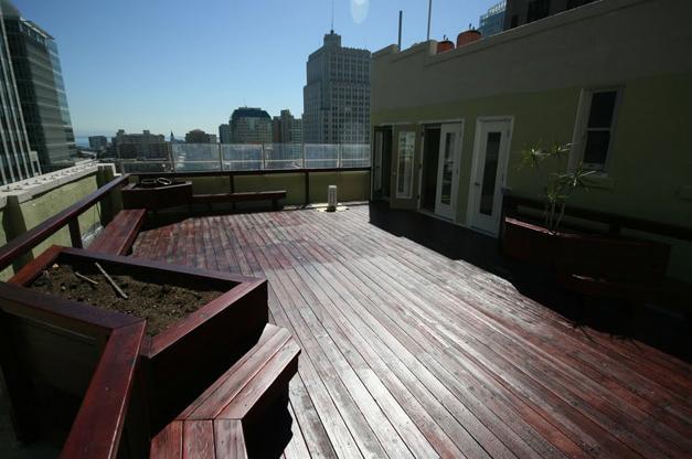 Terraza en la Azotea del Edificio dónde se ubica la Escuela - Terraza en Escuela Converse SF San Francisco